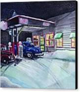 Times Past Gas Station Canvas Print