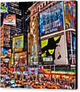 Times Square Canvas Print by Randy Aveille