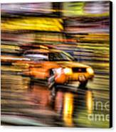 Times Square Taxi I Canvas Print by Clarence Holmes