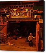 Tinkertown Blacksmith Shop Canvas Print by Jeff Swan
