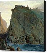 Tintagel On The Cornish Coast Canvas Print by W T Richards