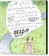 Title Taken By Surprise. While Strolling Canvas Print by Roz Chast