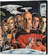 Tng Crew Season 1 Canvas Print by Jonathan W Brown