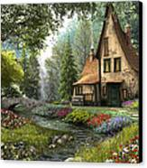 Toadstool Cottage Canvas Print