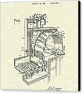 Tobacco Machine 1932 Patent Art Canvas Print