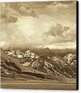 Tobacco Root Mountain Range Montana Sepia Canvas Print by Jennie Marie Schell
