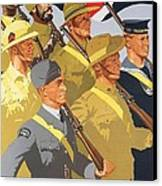 Together Propaganda Poster Canvas Print by Anonymous