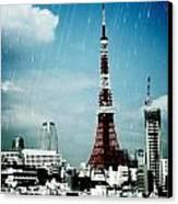Tokyo Eiffel  Canvas Print by Natalya Karavay