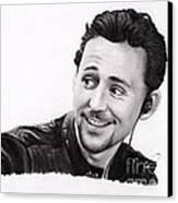 Tom Hiddleston 2 Canvas Print