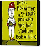 Tom Seaver Cincinnati Reds Canvas Print by Jay Perkins