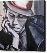 Tom Waits One Canvas Print by Eric Dee