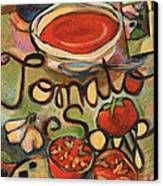 Tomato Soup Recipe Canvas Print by Jen Norton