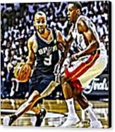 Tony Parker Painting Canvas Print