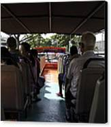 Tourists On The Sight-seeing Bus Run By The Hippo Company In Singapore Canvas Print by Ashish Agarwal