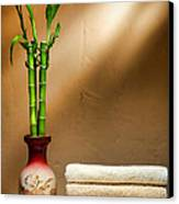 Towels And Bamboo Canvas Print