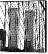 Towers From The Brooklyn Bridge 1990s Canvas Print by John Rizzuto