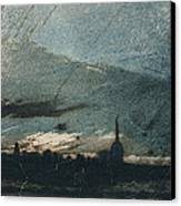 Town At Dusk Canvas Print by Victor Hugo