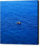 Toy Boat On Imaginary Water Canvas Print by John Magnet Bell