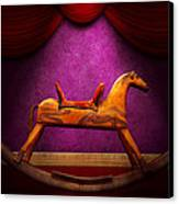 Toy - Hobby Horse Canvas Print by Mike Savad