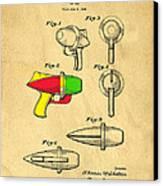 Toy Ray Gun Patent II Canvas Print by Edward Fielding