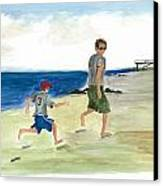 Tracing Your Footsteps In The Sand Canvas Print