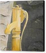 Tradional Irish Roadside Pump Canvas Print by Siobhan Lawson