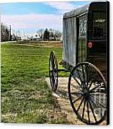 Traditional Amish Buggy Canvas Print by Lee Dos Santos