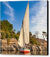 Traditional Egyptian Sailboat On The Nile Canvas Print