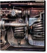 Train - Car - Springs And Things Canvas Print by Mike Savad