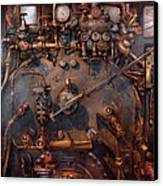 Train - Engine - Hot Under The Collar  Canvas Print by Mike Savad
