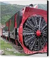 Train Snowplow Canvas Print