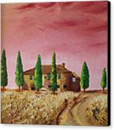 Tramonto Canvas Print by Niki Mastromonaco