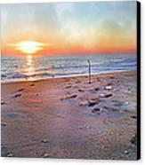 Tranquility Beach Canvas Print by Betsy Knapp
