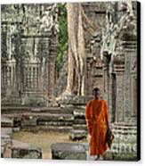 Tranquility In Angkor Wat Cambodia Canvas Print by Bob Christopher