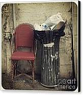 Trash And Chair Asking Please Take Me Home Canvas Print by Victoria Herrera