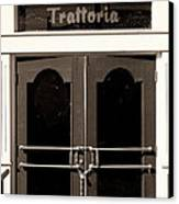 Trattoria Door Palm Springs Canvas Print by William Dey