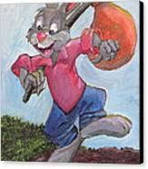 Traveling Rabbit Canvas Print by Terry Lewey