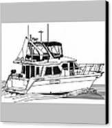Trawler Yacht Canvas Print by Jack Pumphrey