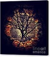 Tree Circle 2 Canvas Print by Milliande Demetriou