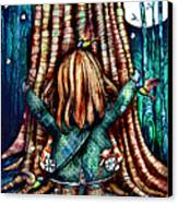 Tree Hugs Canvas Print by Karin Taylor