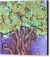 Tree In Three Dee Canvas Print by Genevieve Esson