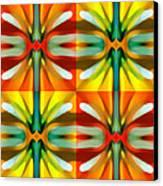 Tree Light Square Pattern Canvas Print