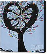 Tree Of Hearts Canvas Print by Marcia Weller-Wenbert