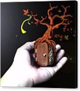 Treeclock Canvas Print by Racquel Delos Santos