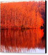 Trees By River Canvas Print by Jose Lopez