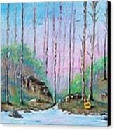 Trees With Cuatro Canvas Print