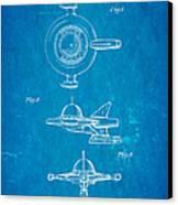 Tremulis Spaceship Hood Ornament Patent Art 1951 Blueprint Canvas Print