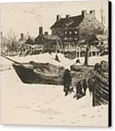 Trenton Winter Canvas Print by Stephen Parrish