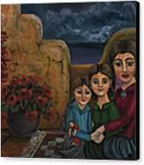 Tres Mujeres Three Women Canvas Print by Victoria De Almeida