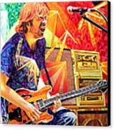 Trey Anastasio Squared Canvas Print by Joshua Morton